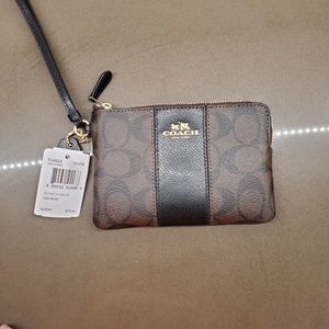 NWT Coach Wallet with Leather Details